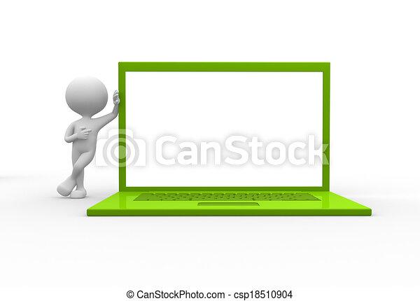 Green laptop - csp18510904