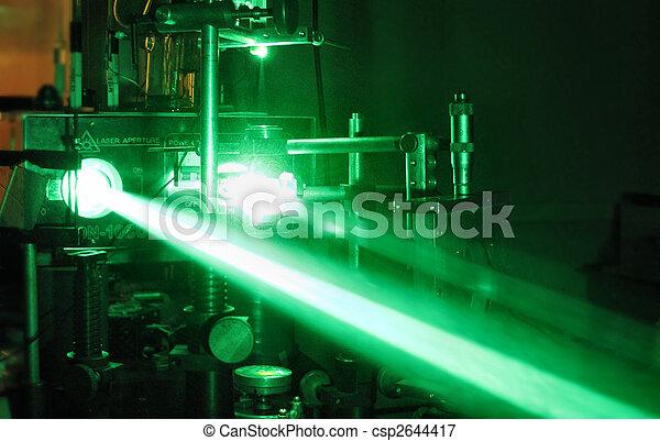 green laser beam - csp2644417