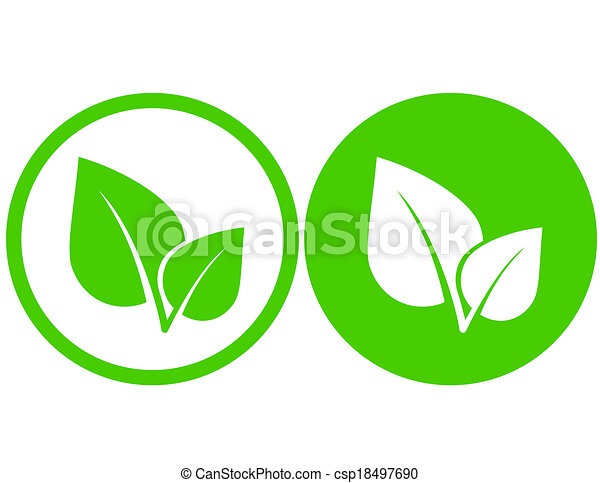 set with green leaf icons in round frame eps vectors search clip rh canstockphoto com leaf vector icon leaf vector free
