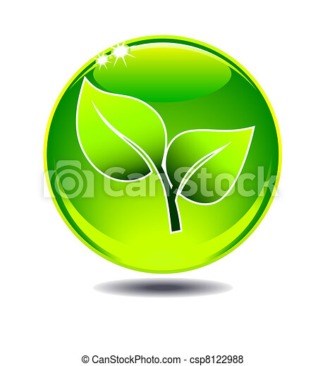 Green Leaf Logo - csp8122988