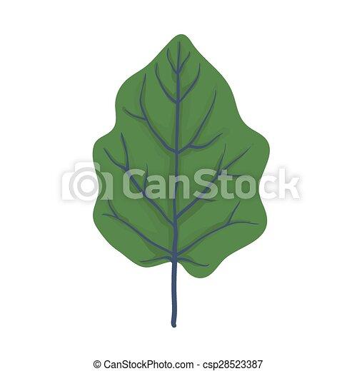 Green leaf of tree, vector illustration - csp28523387
