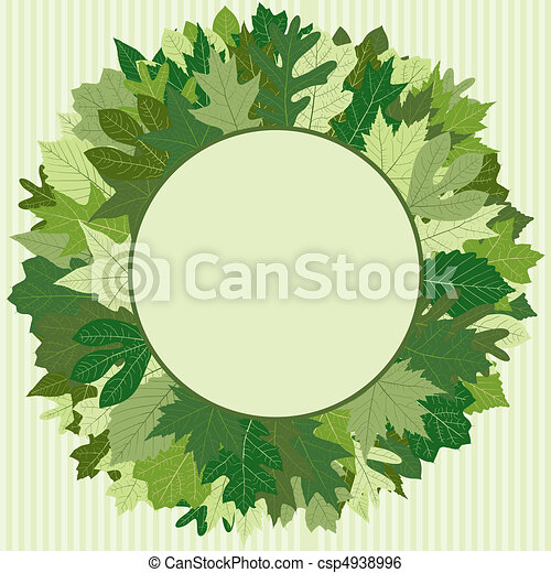 Green Leaf Wreath - csp4938996