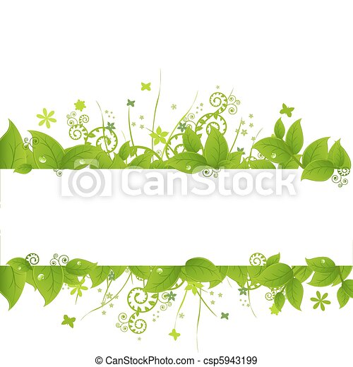 Green Leafs And Grass - csp5943199