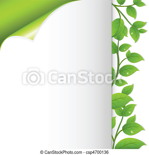 Green Leaves And Paper - csp4700136