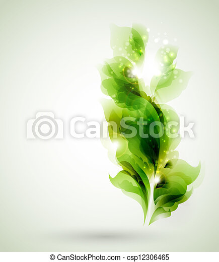 green  leaves  - csp12306465