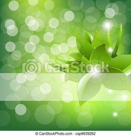 Green Leaves Design - csp9639262