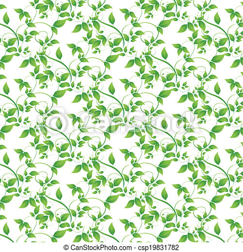 green leaves seamless background - csp19831782