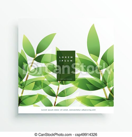 green leaves vector nature background card - csp49914326