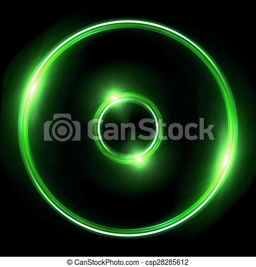 green lens ring flares double circle beautiful double ring rh canstockphoto com double wedding rings clipart free Wedding Rings Clip Art