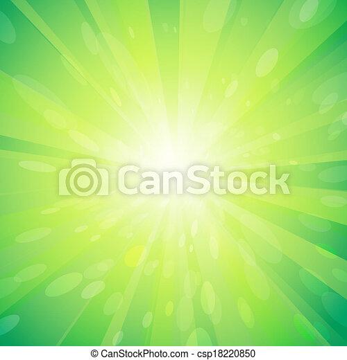 Green light background - csp18220850