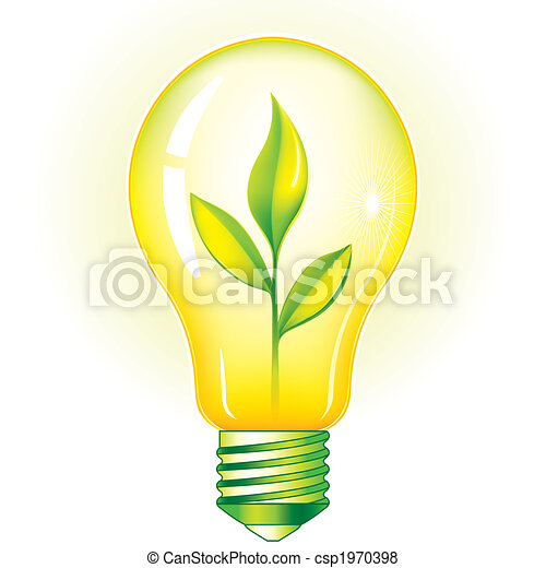 Green Light Bulb - csp1970398