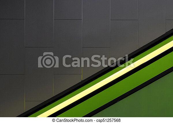 Green light on a gray wall. - csp51257568