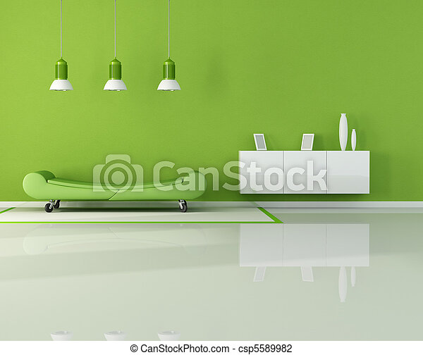 green living room - csp5589982