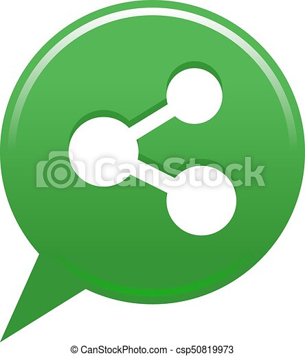 Green map pin share button - csp50819973