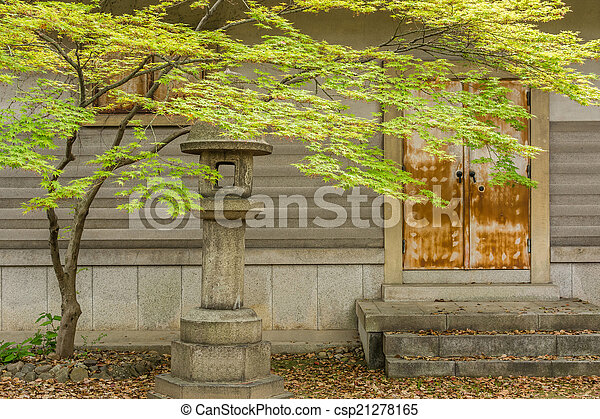 Green maple tree and leaves - csp21278165