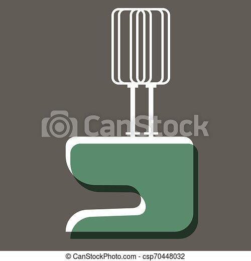 Green mixer flat illustration design - csp70448032