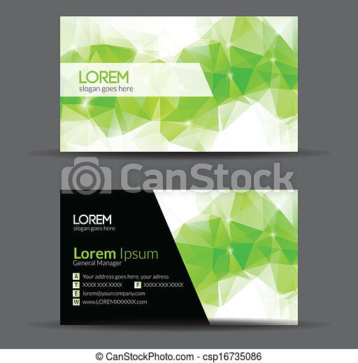 Green Modern Abstract Business - Card Set | EPS10 Vector Design - csp16735086