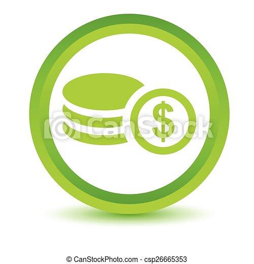 Green Money icon - csp26665353
