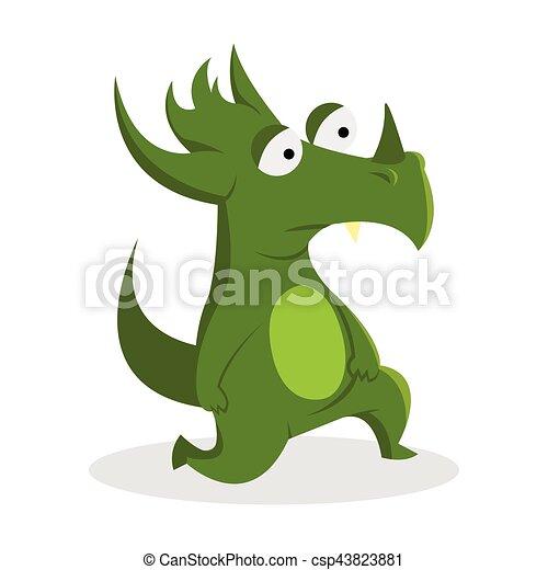 green monster illustration design - csp43823881