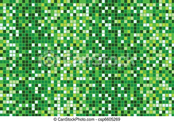 green mosaic background - csp6605269