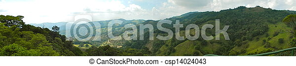green mountains panoramic view at monteverde - csp14024043