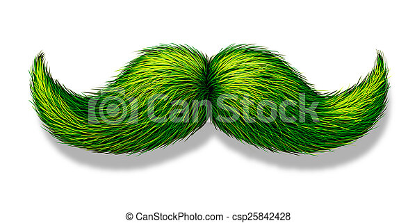 Green Moustache - csp25842428