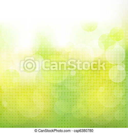 Green Natural Background With Boke - csp6380780