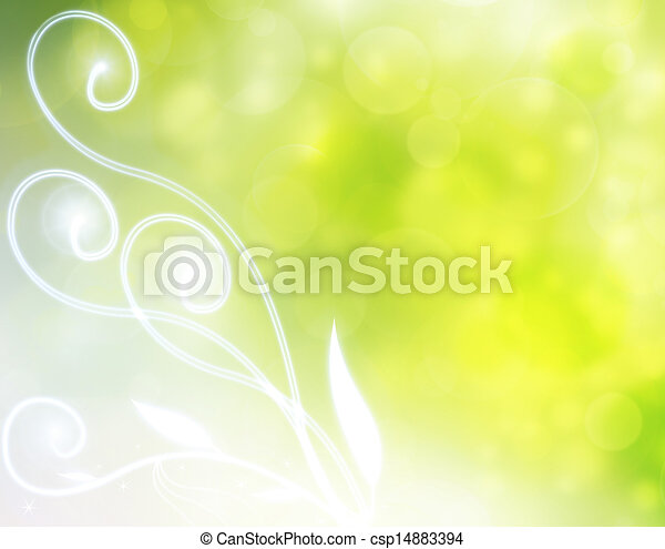 green natural bubble background - csp14883394