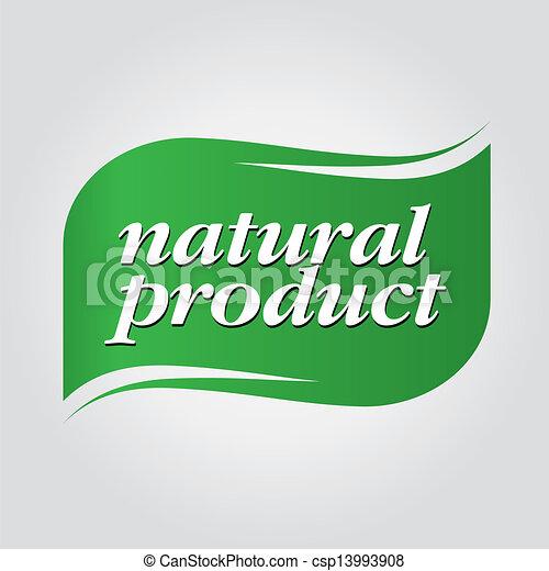 green natural product brand - csp13993908