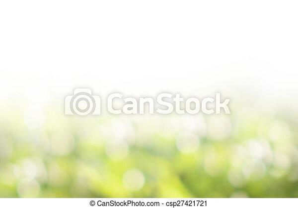 Green nature blurred background - csp27421721