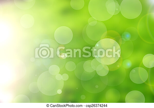 green nature bokeh background abstract - csp26374244