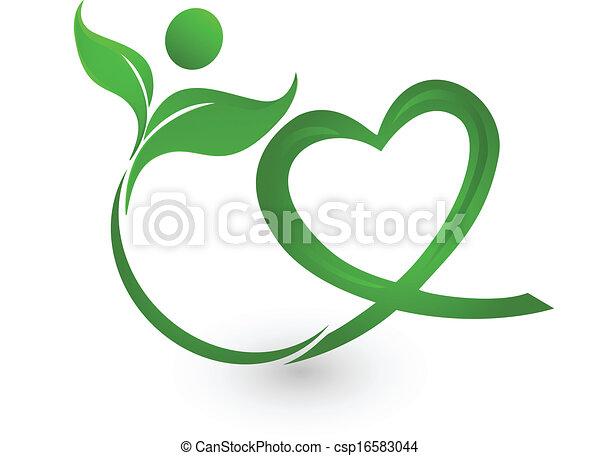 Green nature illustration logo - csp16583044