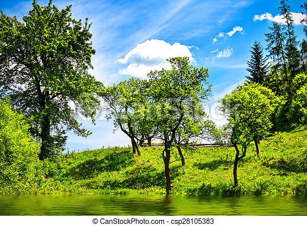Green nature landscape - csp28105383