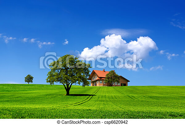 Green nature landscape - csp6620942