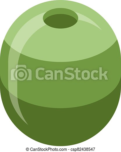 Green olive icon, isometric style - csp82438547