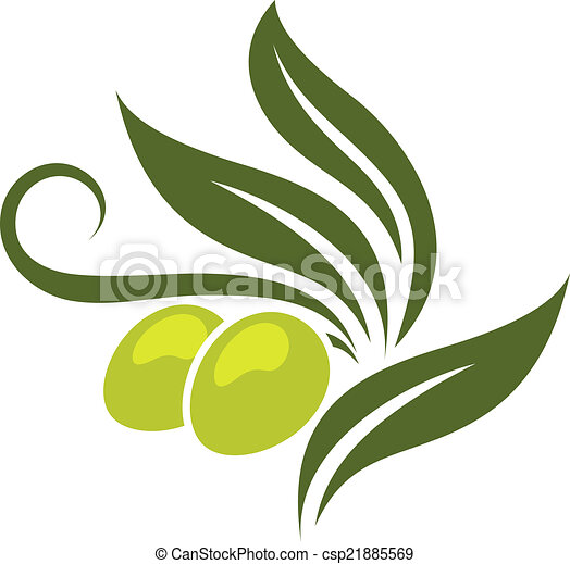 Green olives branch - csp21885569