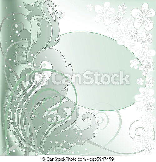 green oval frame - csp5947459
