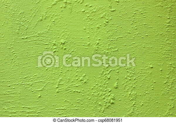 green paint on rough cement wall texture background - csp68081951