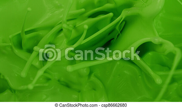 Green paint splashes, abstract background - csp86662680