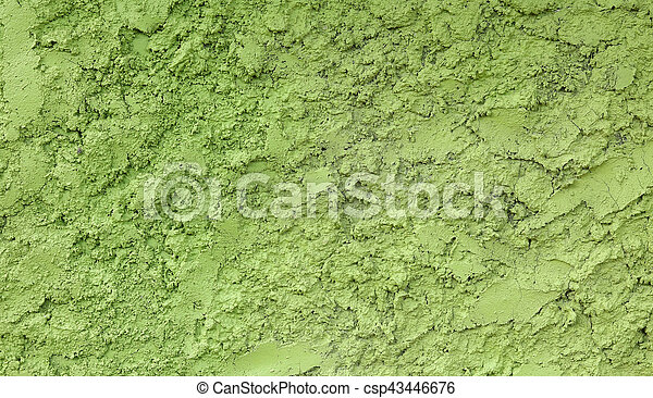 Green Painted Stucco Wall Texture Background
