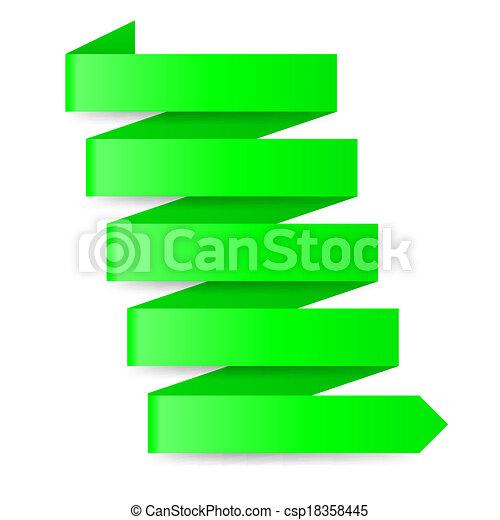 Green paper arrow - csp18358445