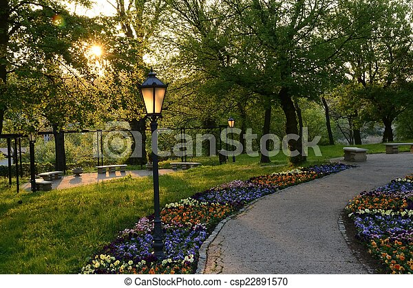 Green parks in Poland - csp22891570