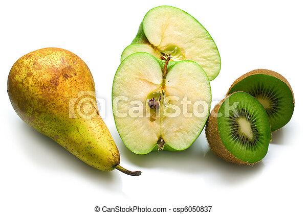 Green pear, apple and kiwi - csp6050837
