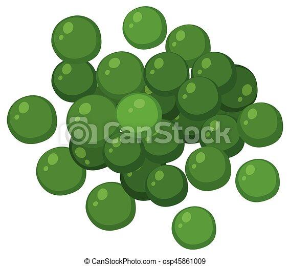 Green peas on white background - csp45861009
