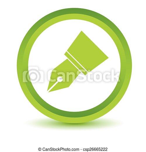 Green Pen icon - csp26665222