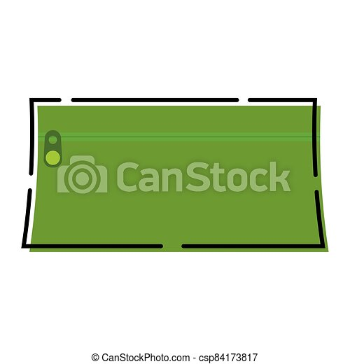 Green pencil case icon - csp84173817