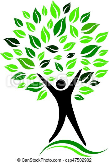 green person tree vector icon illustration rh canstockphoto com tree vector art free tree vector art free