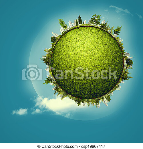 Green Planet, abstract environmental backgrounds for your design - csp19967417