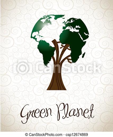 Green planet - csp12674869