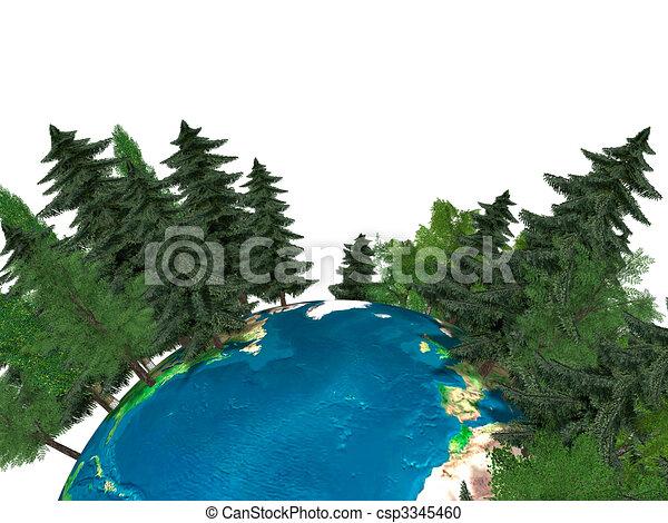 Green Planet Earth - csp3345460